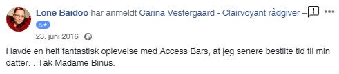 clairvoyant Carina Vestergaard, Om Carina